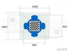 1.Стол шахматный М4 (детский)