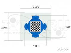 1.Стол шахматный М4