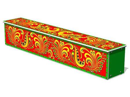 Ящик-скамья для теневых навесов «Хохлома» эскиз