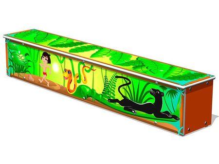 Ящик-скамья для теневых навесов «Маугли» эскиз