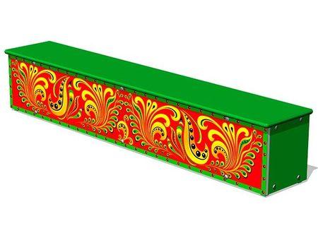 Ящик-скамья для теневых навесов «Хохлома М1» эскиз