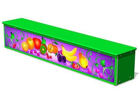 Ящик-скамья для теневых навесов «Фрукты М1» эскиз