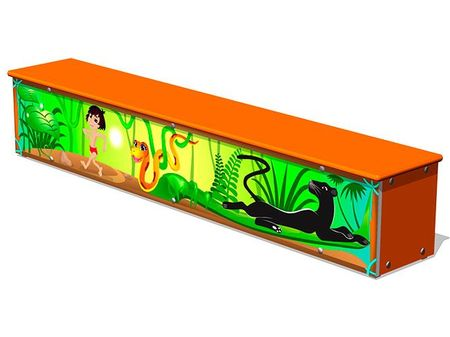 Ящик-скамья для теневых навесов «Маугли М1» эскиз