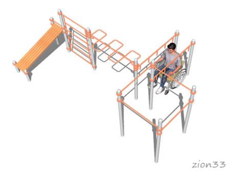 Воркаут-комплекс ВА084 (для колясочников), эскиз