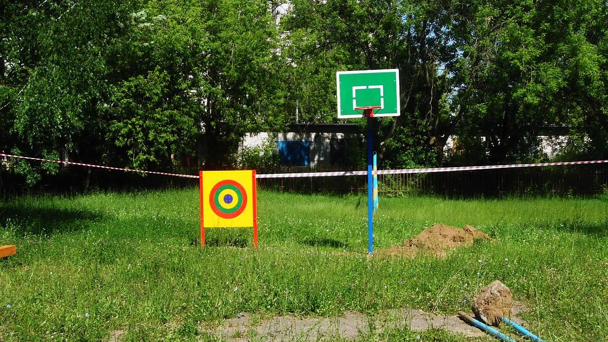 Мишень для бросания мяча ГТО и баскетбольная стойка М1