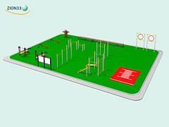 Проект спортивной площадки для подготовки и тестирования норм ГТО