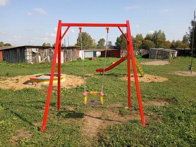 Детская игровая площадка в с.Цибеево, новые элементы с другого ракурса