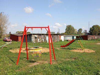 Детская игровая площадка в с.Цибеево, новые элементы