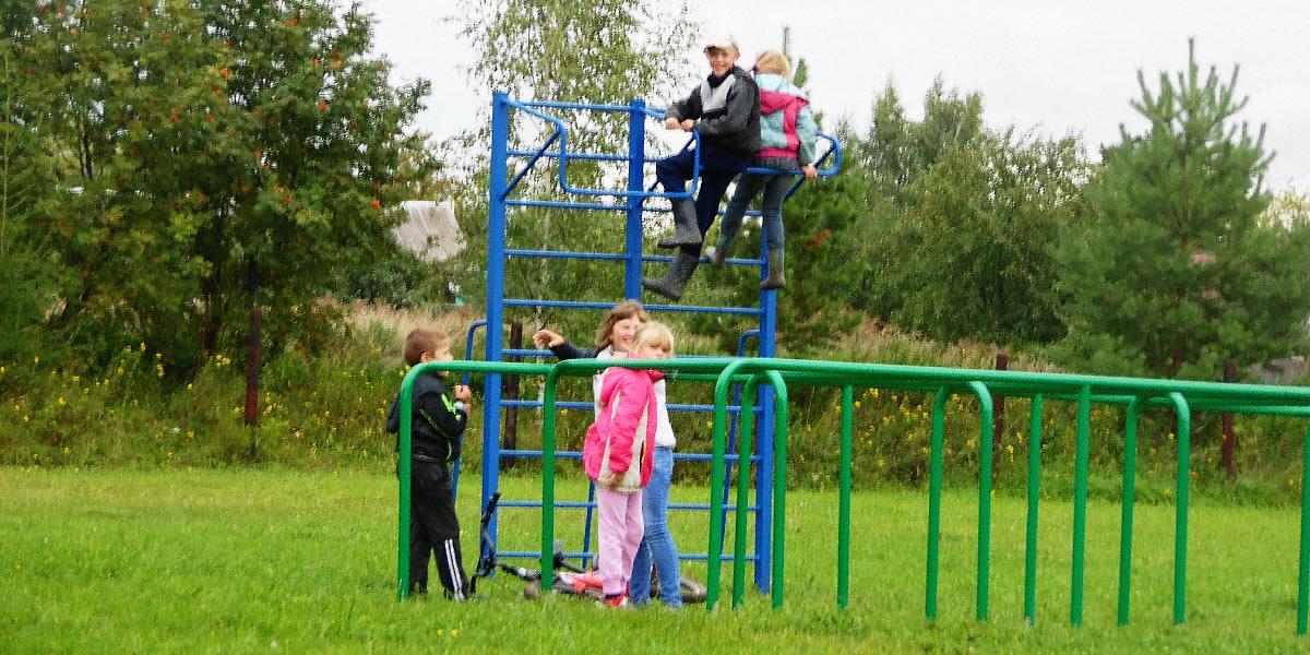 Федоровская средняя школа - спортивная площадка, шведские стенки