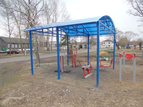 Спортивная и детская площадки в Тасинском - общий вид 1