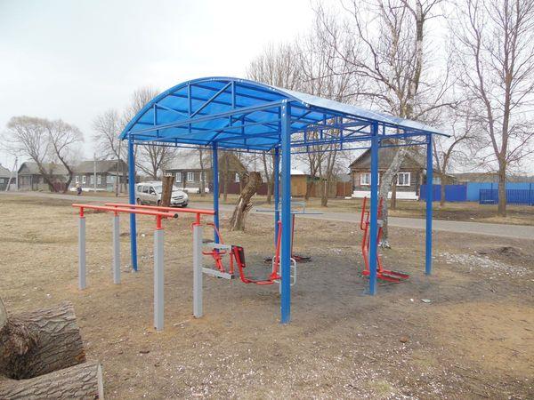 Спортивная и детская площадки в Тасинском - общий вид 3