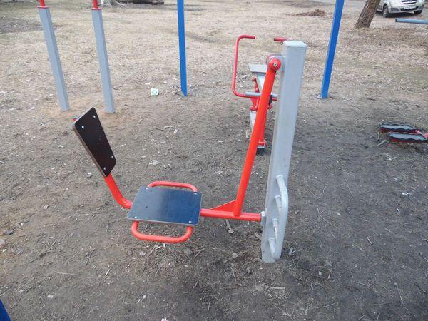 Тренажер уличный ВК15 «Жим ногами горизонтальный односторонний»