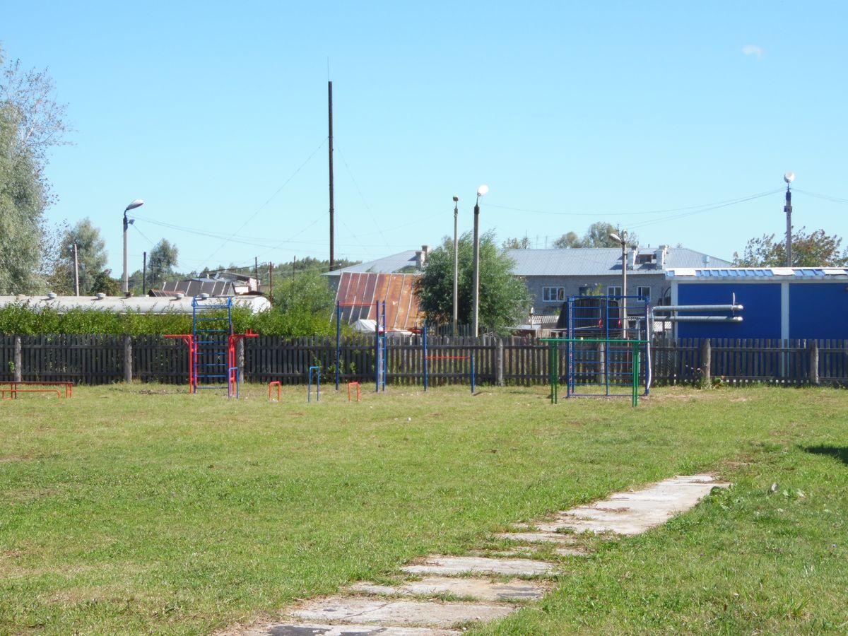 Спортивная площадка в Волосатовской средней школе - общий вид