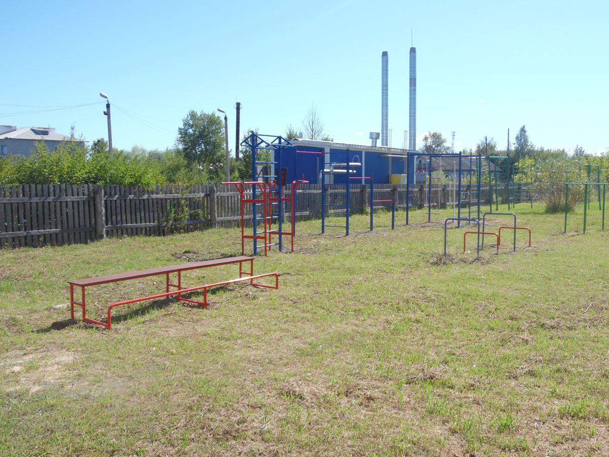 Спортивная площадка в Волосатовской средней школе - общий вид 2