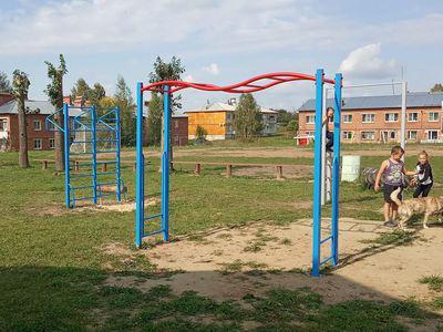 Элементы спортивной площадки в с.Кутуково, ул.Садовая
