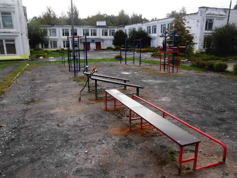 Спортивная площадка в Зареченской школе Собинского района